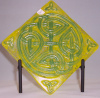 Celtic Plate in Yellow & Green