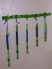 Lime green dichroic wind chime
